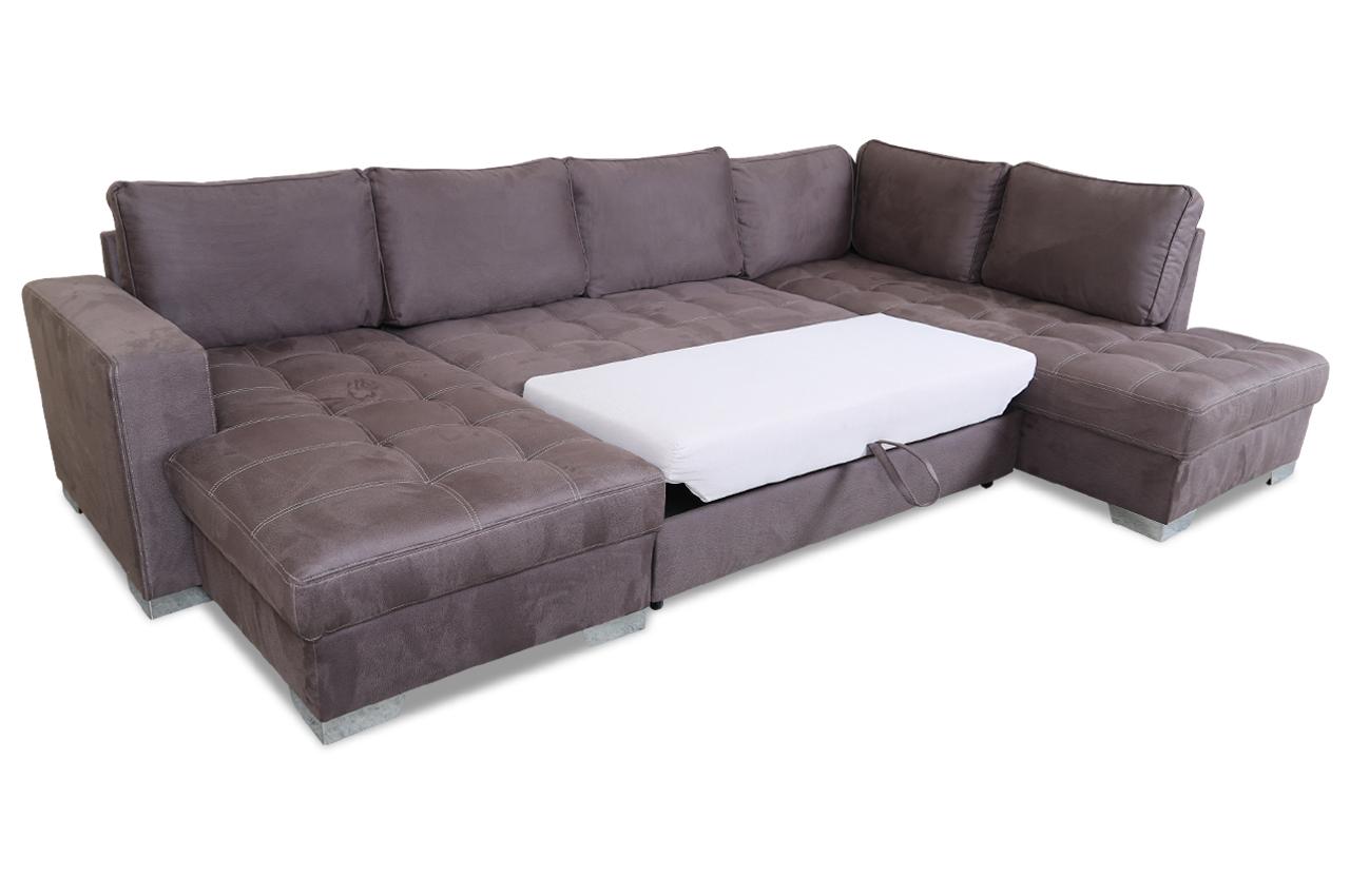 wohnlandschaft arles mit schlaffunktion braun mit. Black Bedroom Furniture Sets. Home Design Ideas