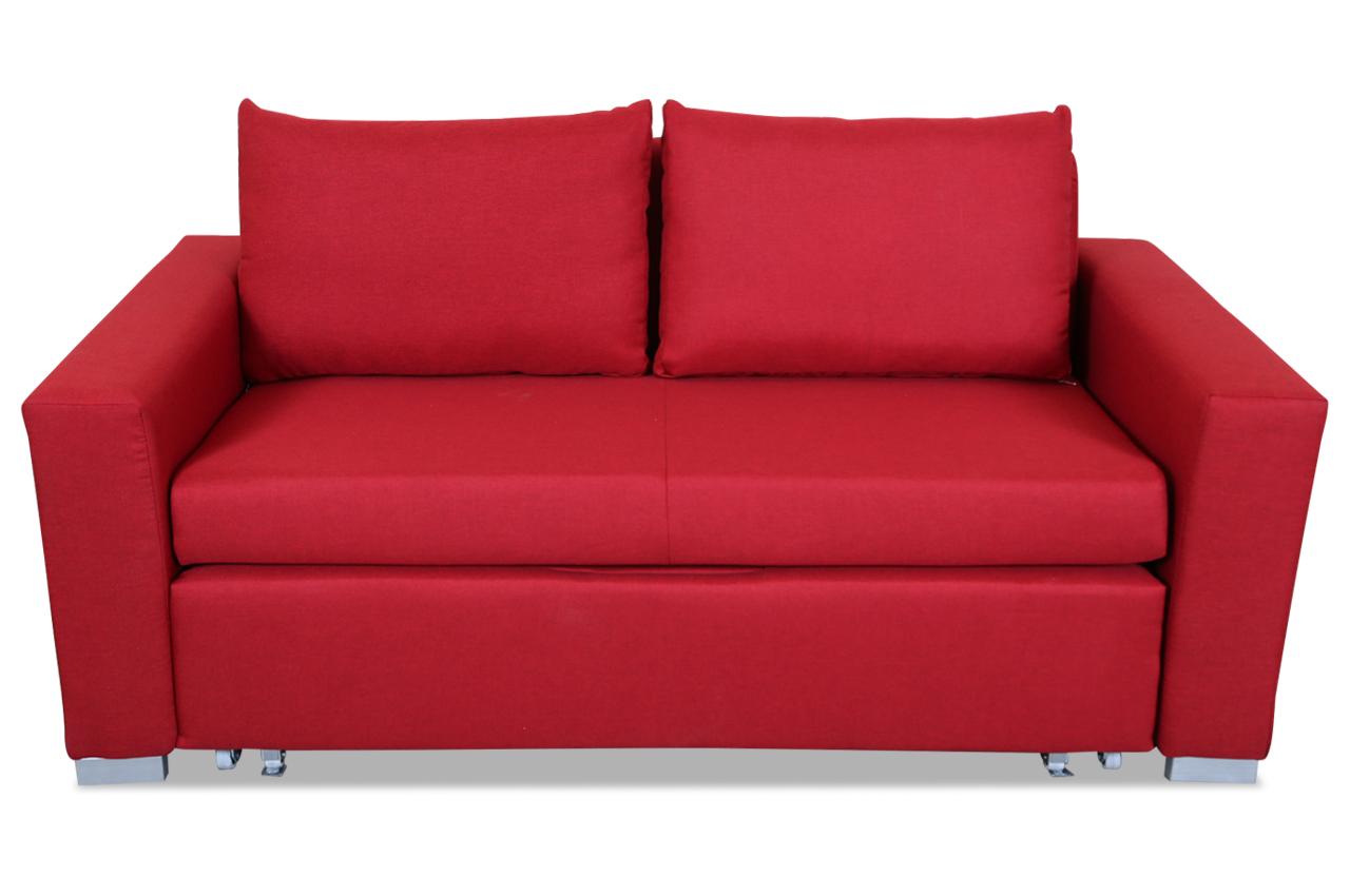 3er sofa latina 170 mit schlaffunktion rot sofas zum halben preis. Black Bedroom Furniture Sets. Home Design Ideas