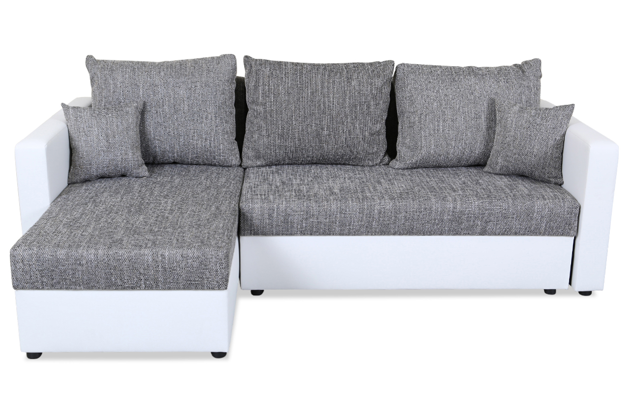 furntrade ecksofa corner mit schlaffunktion grau mit federkern sofas zum halben preis. Black Bedroom Furniture Sets. Home Design Ideas