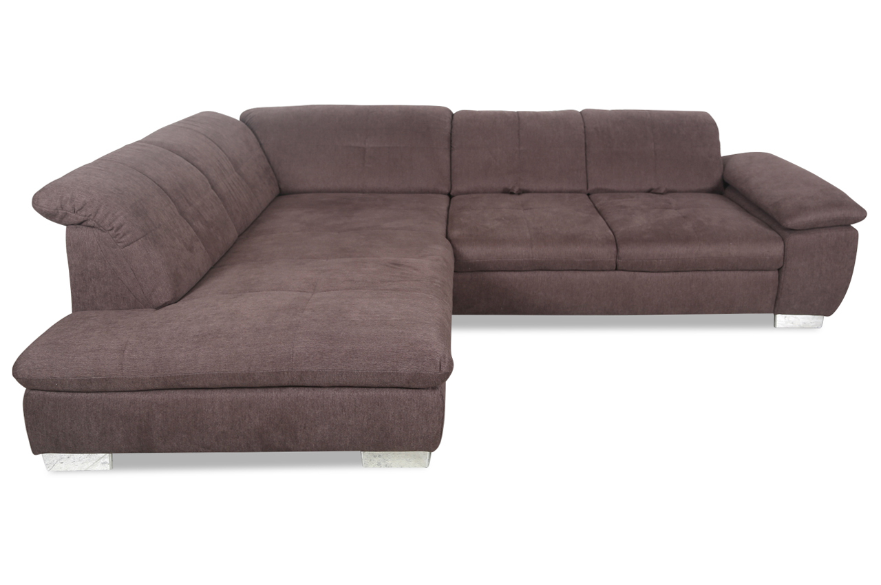 ada alina ecksofa xl 7420 mit sitzverstellung braun sofas zum halben preis. Black Bedroom Furniture Sets. Home Design Ideas