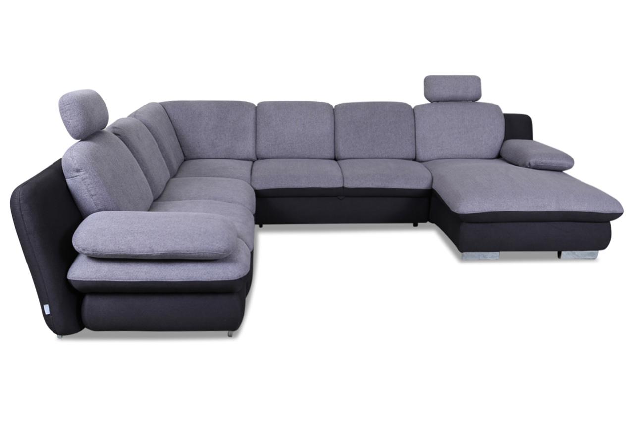 cotta wohnlandschaft liberty mit schlaffunktion grau mit federkern sofas zum halben preis. Black Bedroom Furniture Sets. Home Design Ideas