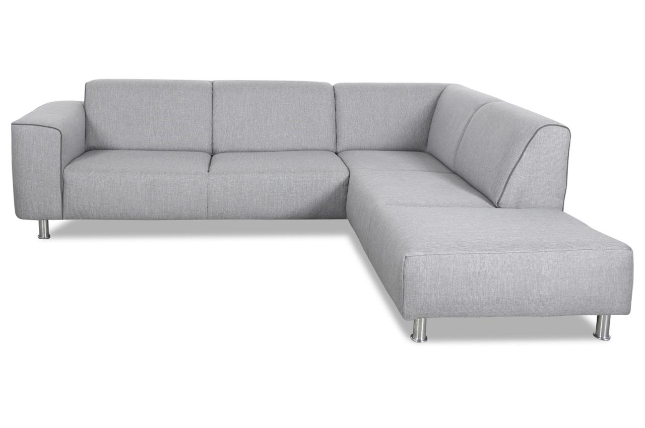 Ada alina ecksofa xl 7520 grau sofas zum halben preis for Wohnlandschaft 7520