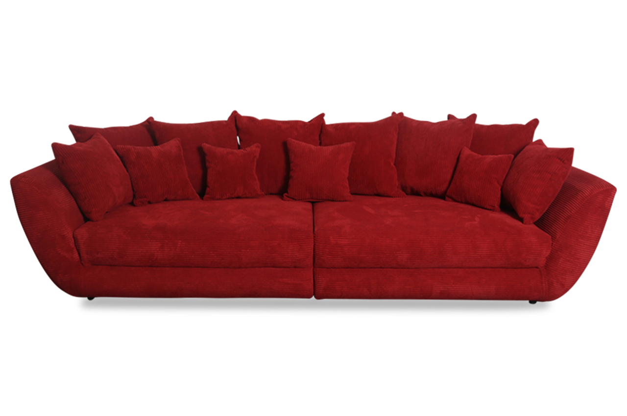 furntrade bigsofa dayton rot sofas zum halben preis. Black Bedroom Furniture Sets. Home Design Ideas