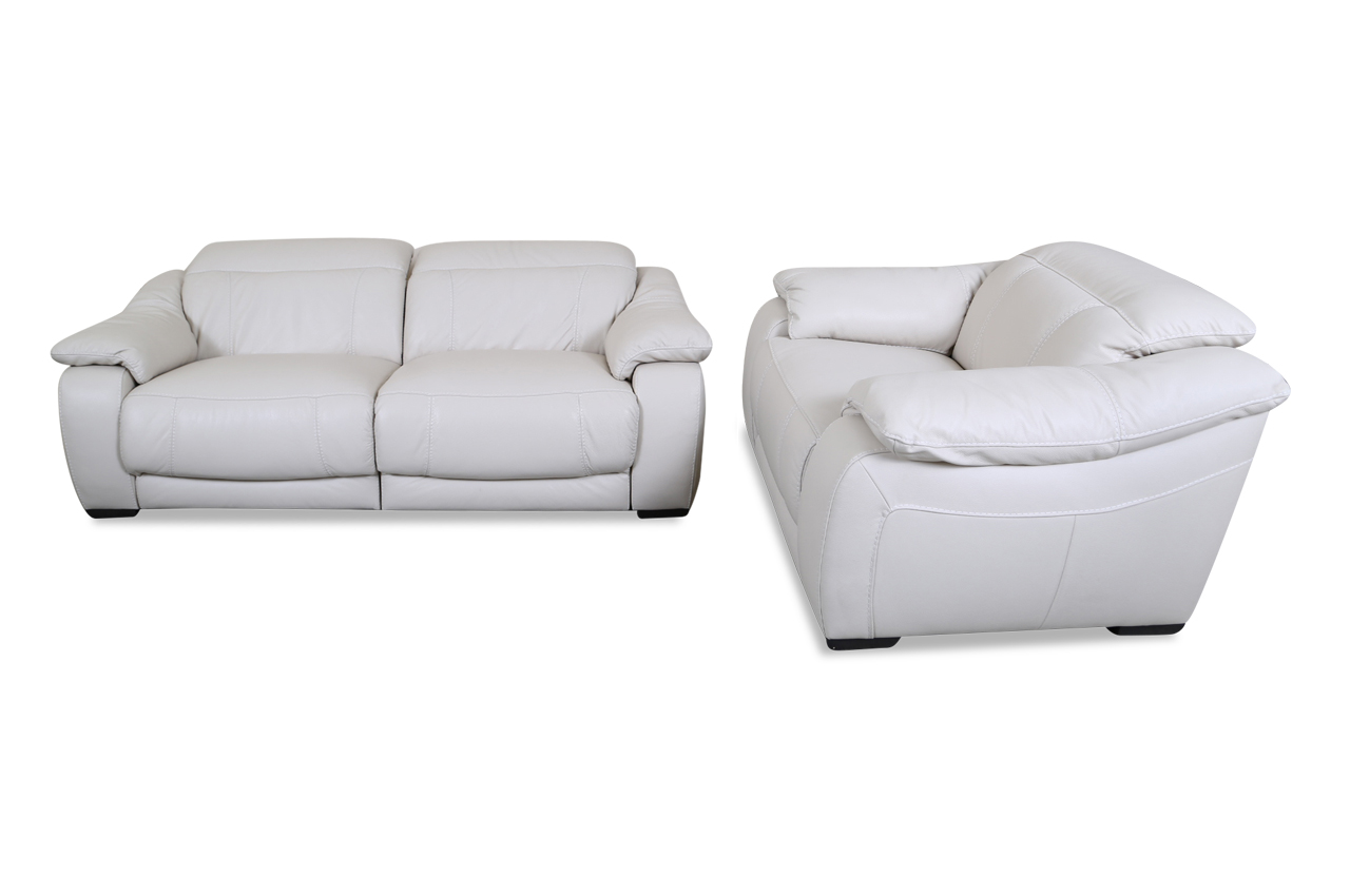 editions leder garnitur u076 weiss sofas zum halben preis. Black Bedroom Furniture Sets. Home Design Ideas