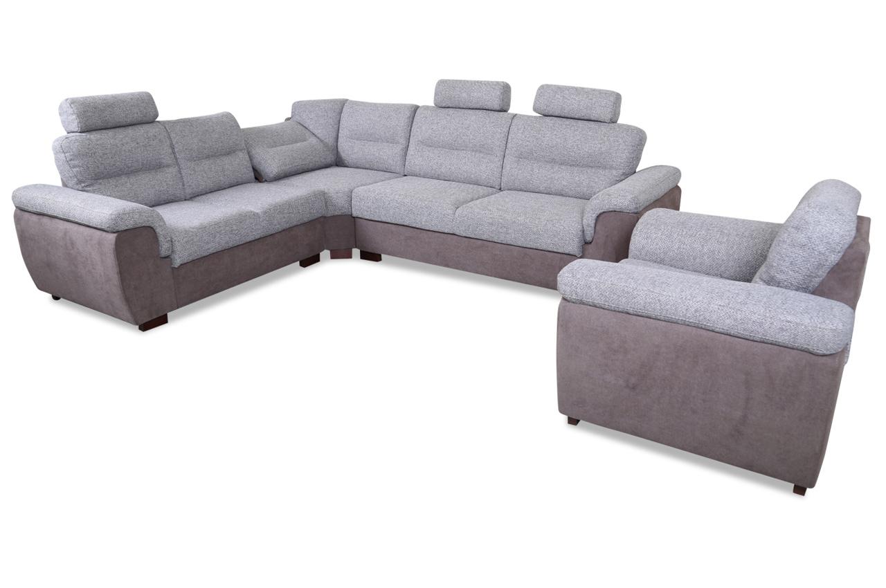 Sofa Mit Relax Sessel Sessel Pino Mit Relax Grau Sofa Couch Ecksofa Moderne Innenarchitektur F