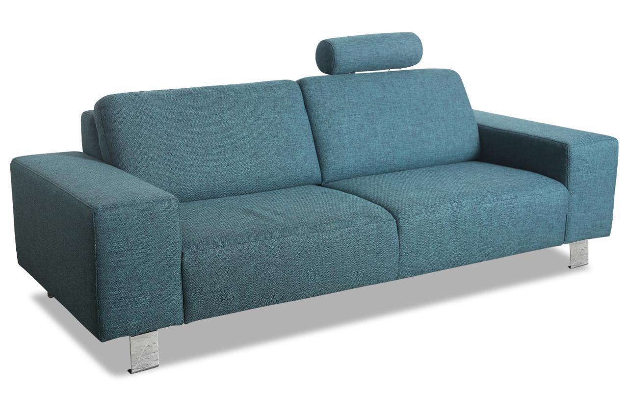 ada alina 3er sofa 7128 blau sofas zum halben preis. Black Bedroom Furniture Sets. Home Design Ideas