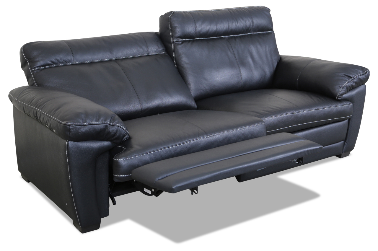 editions leder 3er sofa u074 schwarz sofas zum halben preis. Black Bedroom Furniture Sets. Home Design Ideas