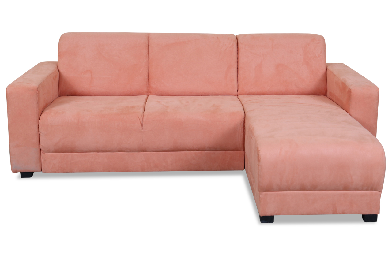 trendmanufaktur ecksofa majorka orange mit federkern stoff sofa couch ebay. Black Bedroom Furniture Sets. Home Design Ideas
