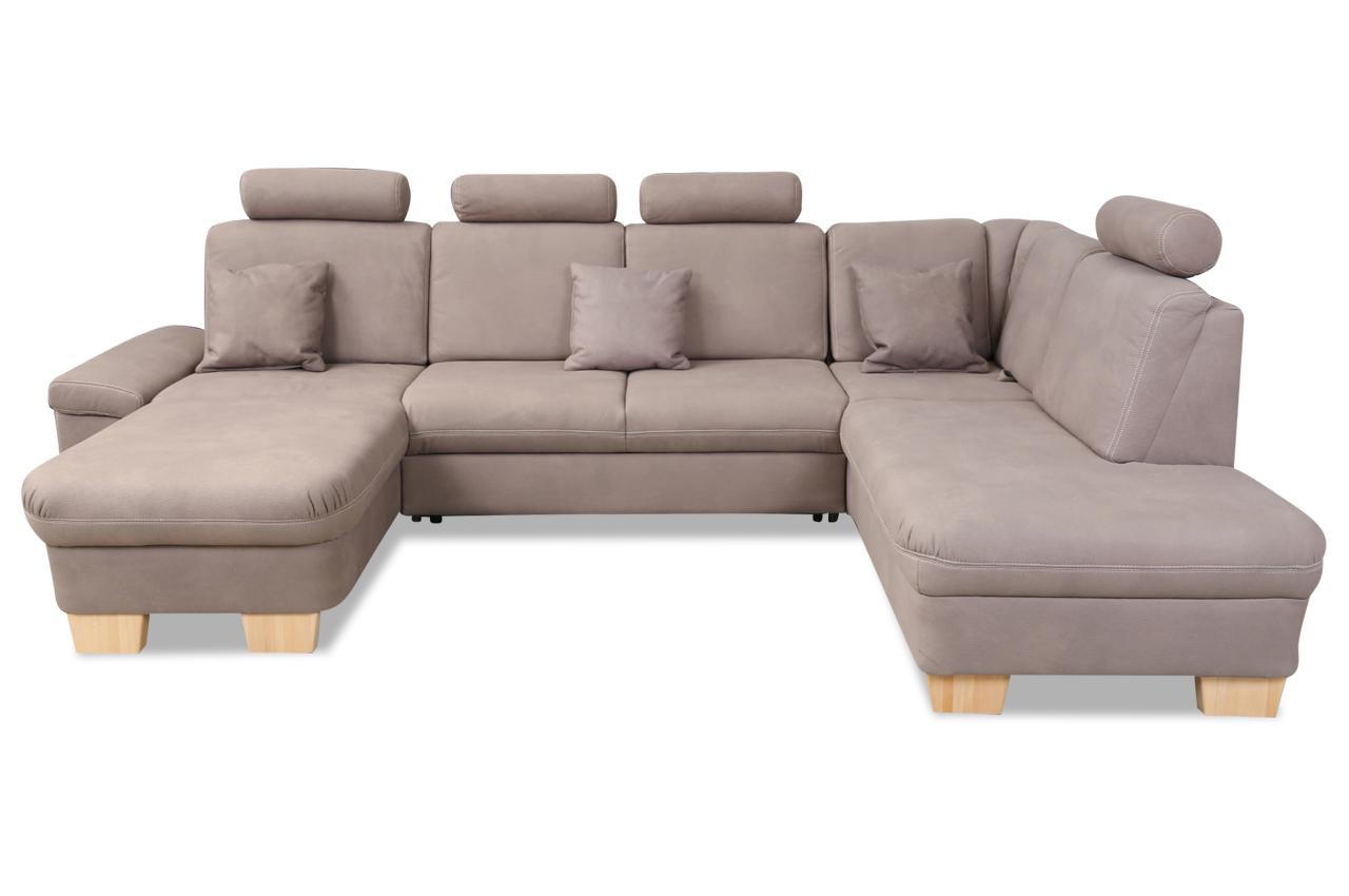 ada alina wohnlandschaft 7411 mit relax und schlaffunktion braun sofas zum halben preis. Black Bedroom Furniture Sets. Home Design Ideas