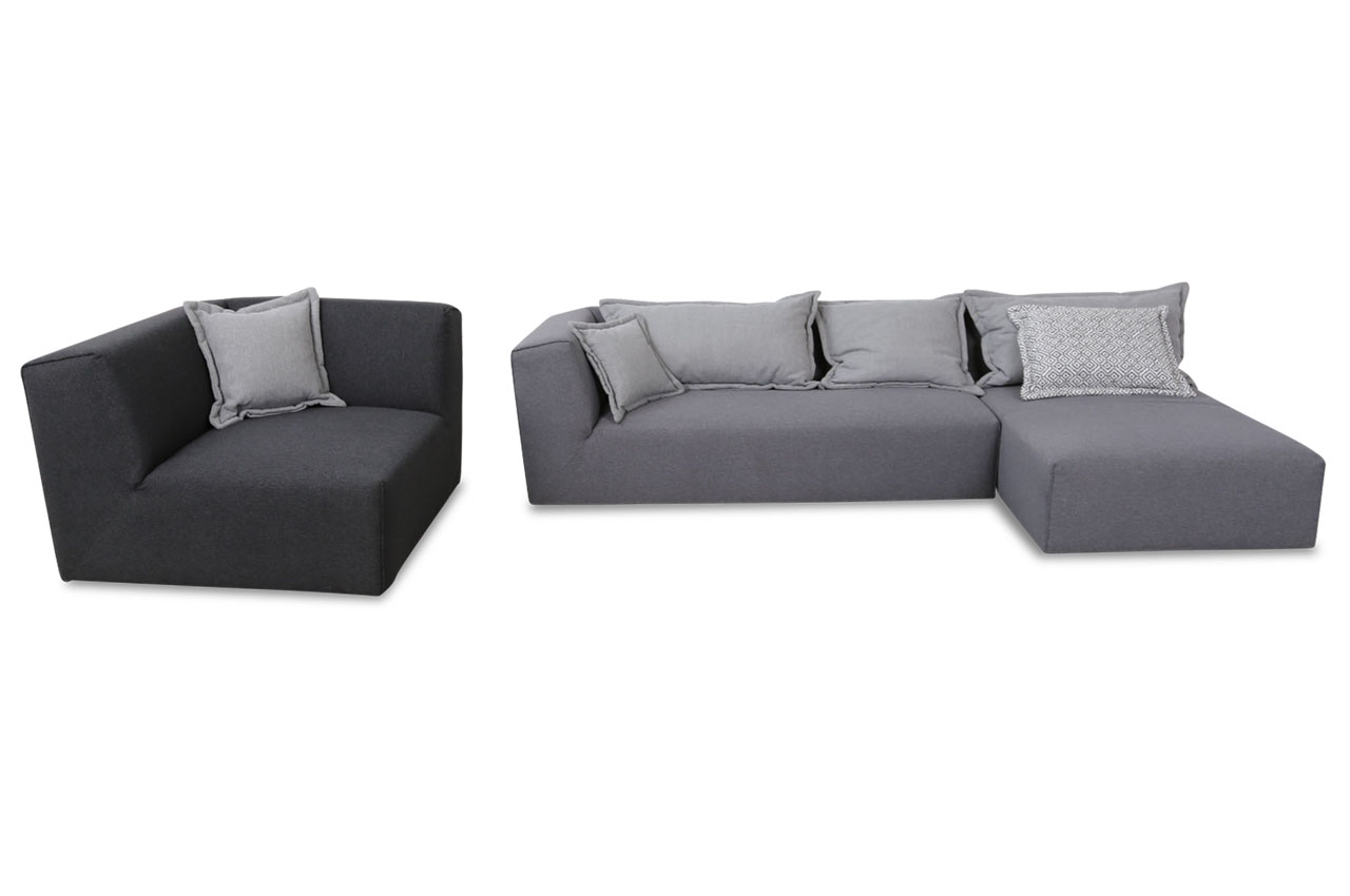 tom tailor ecksofa elements mit sessel grau sofas zum. Black Bedroom Furniture Sets. Home Design Ideas