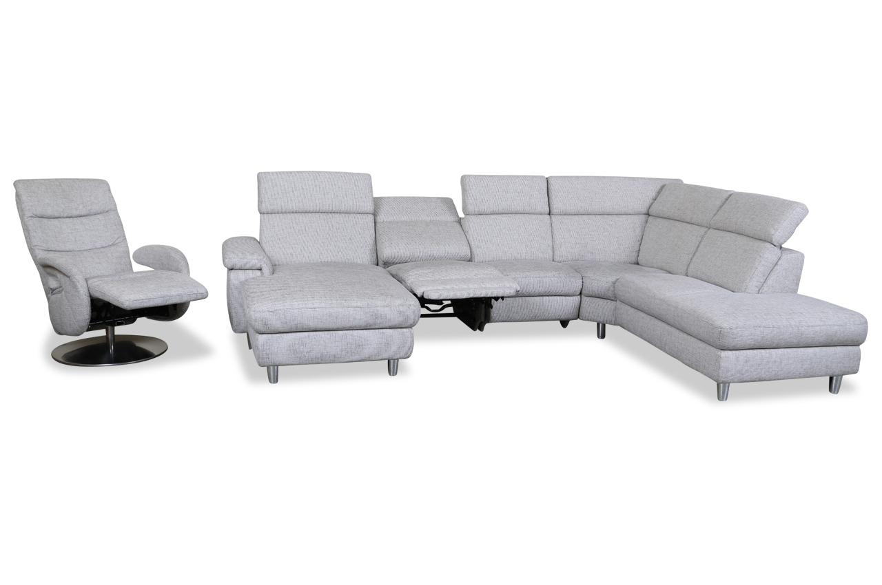 Wohnlandschaft Mit Sessel Grau Sofas Zum Halben Preis