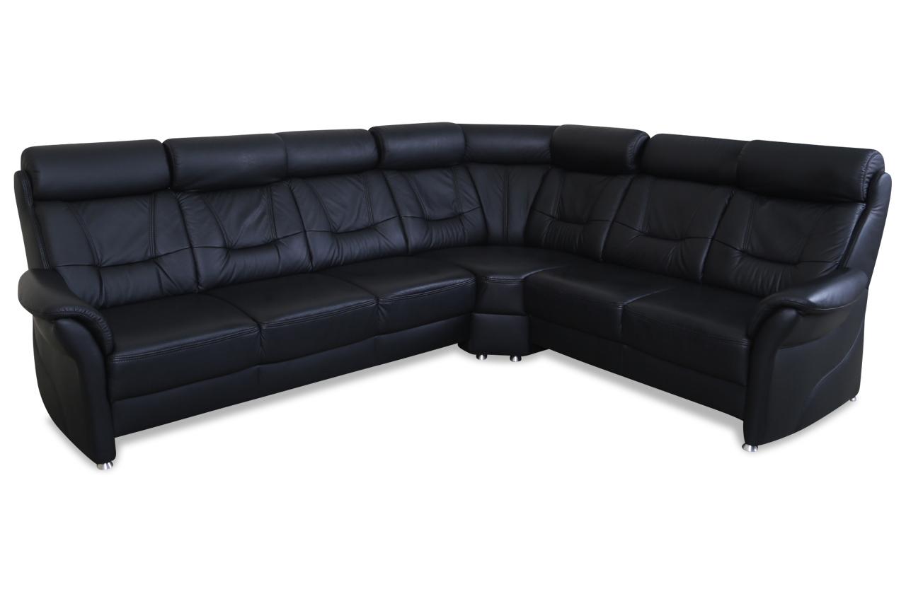 leder rundecke schwarz echt leder sofa couch ebay. Black Bedroom Furniture Sets. Home Design Ideas