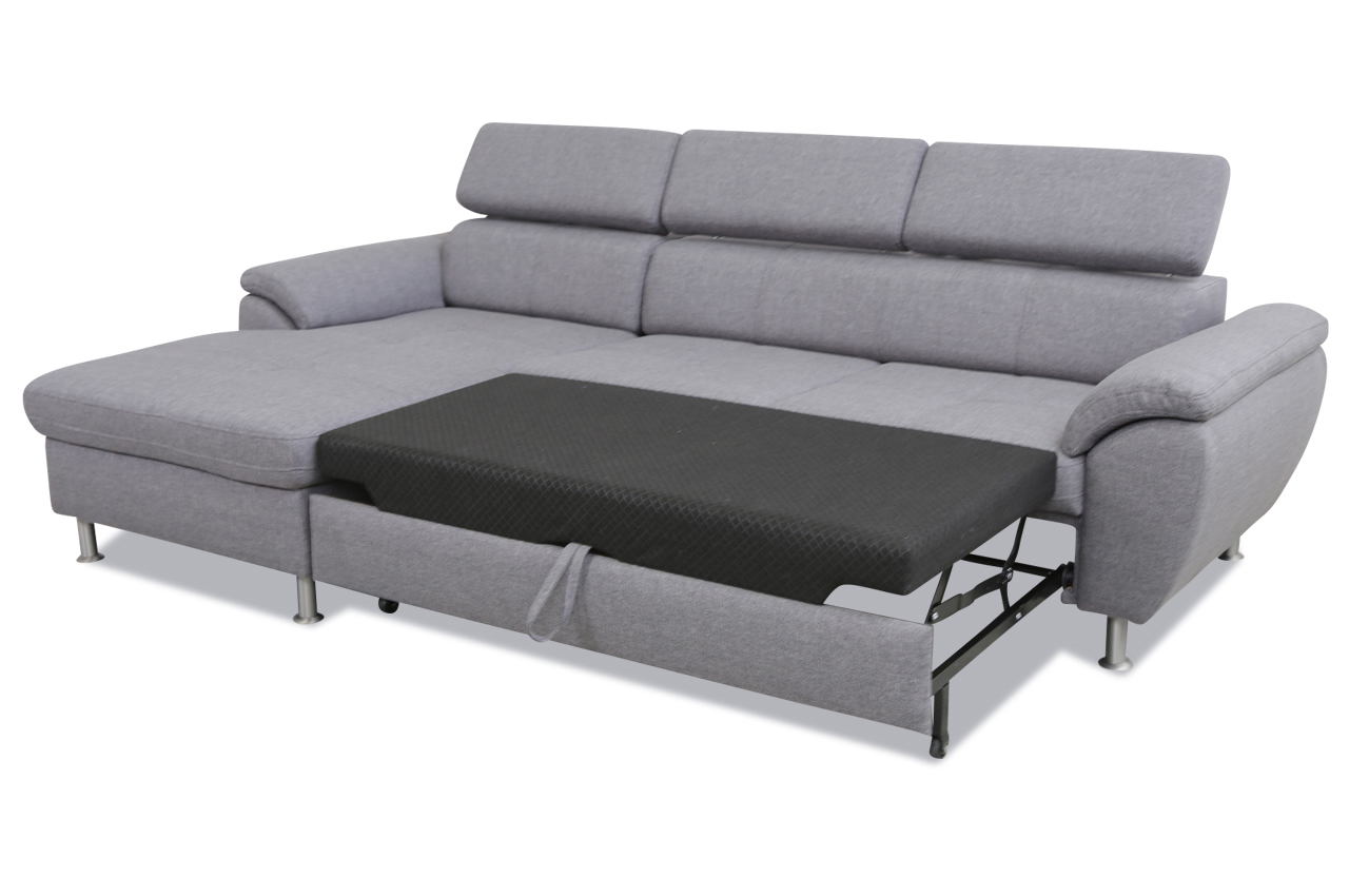 exxpo by gala ecksofa pegasus mit schlaffunktion grau sofas zum halben preis. Black Bedroom Furniture Sets. Home Design Ideas