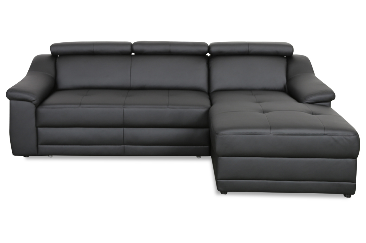 exxpo by gala ecksofa alba mit schlaffunktion schwarz. Black Bedroom Furniture Sets. Home Design Ideas