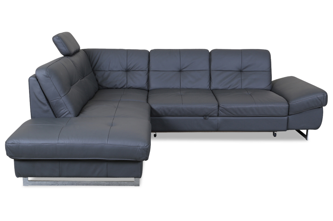cotta leder ecksofa xl rockstar mit schlaffunktion anthrazit sofas zum halben preis. Black Bedroom Furniture Sets. Home Design Ideas