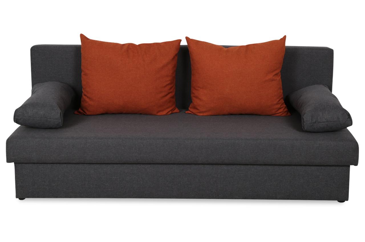 Castello 3er sofa neo mit schlaffunktion anthrazit sofas zum halben preis 3er sofa mit schlaffunktion