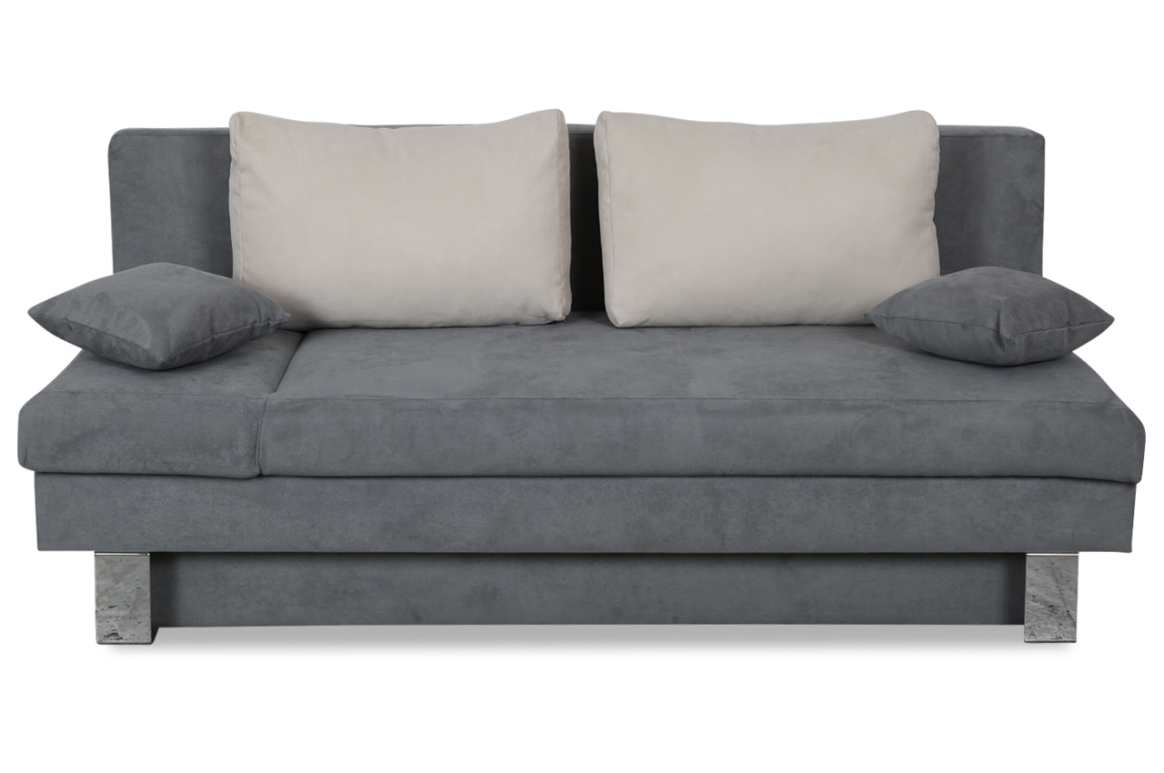 furntrade 3er sofa eric mit schlaffunktion grau sofas zum halben preis. Black Bedroom Furniture Sets. Home Design Ideas