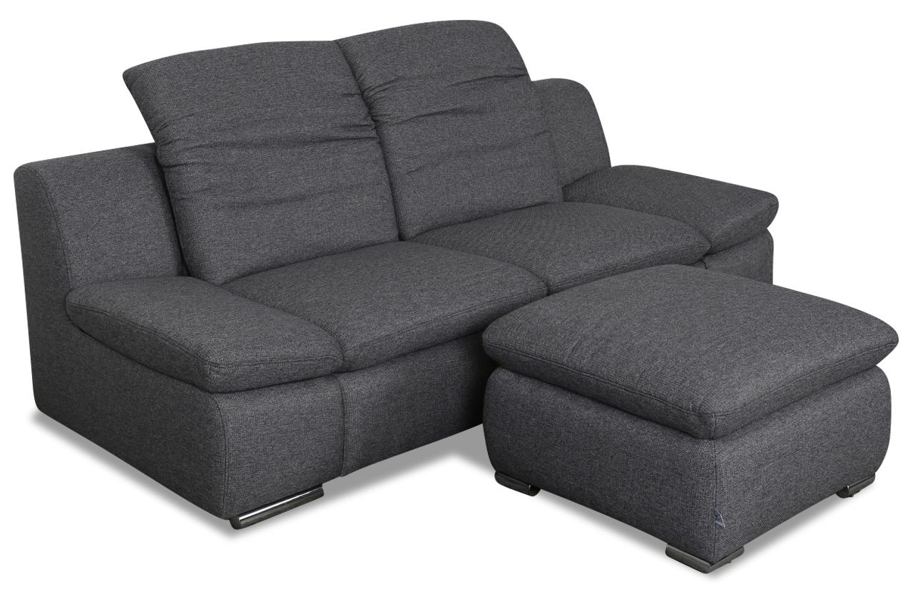 2er sofa mit hocker grau sofas zum halben preis. Black Bedroom Furniture Sets. Home Design Ideas