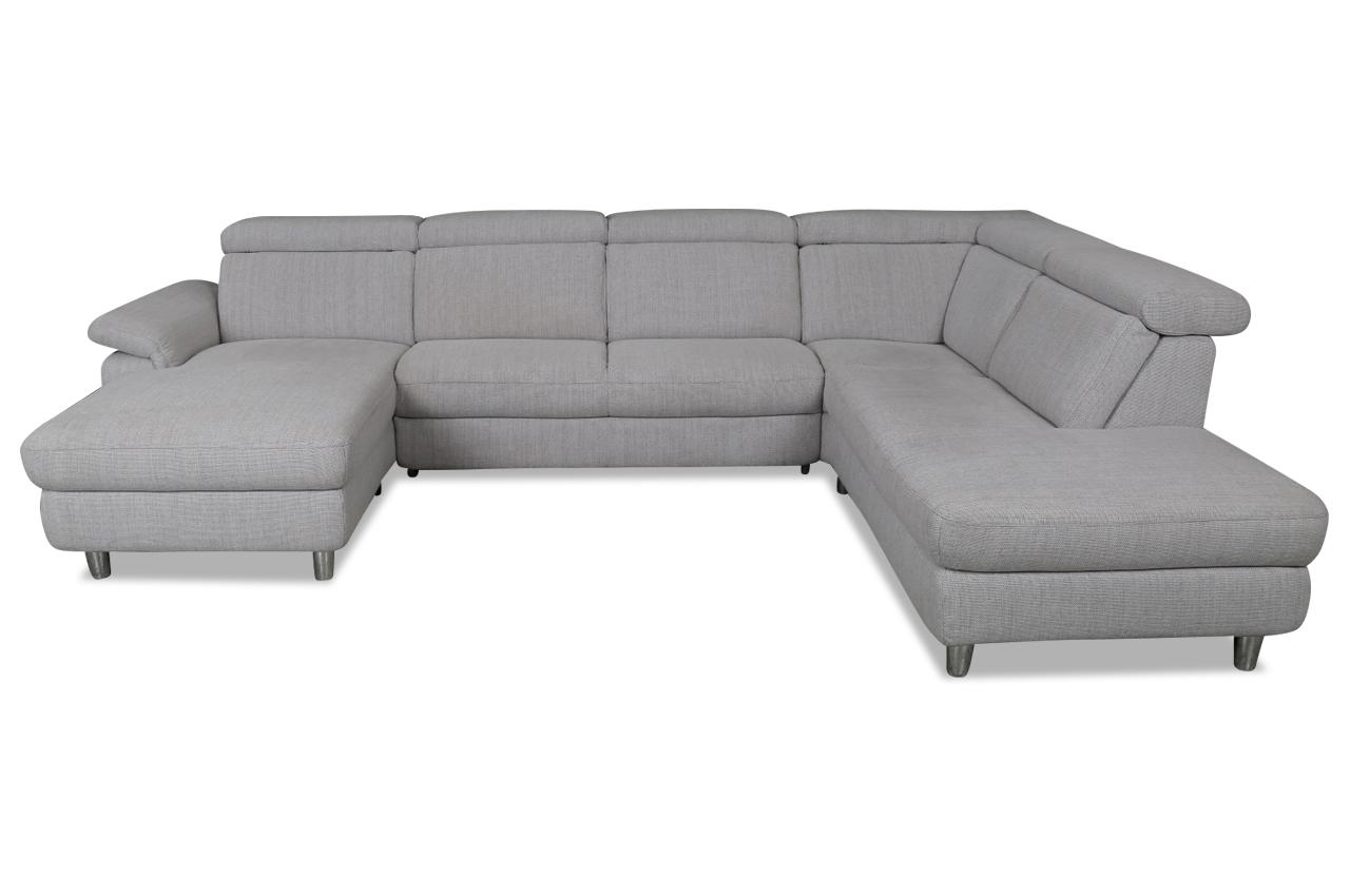 wohnlandschaft grau sofas zum halben preis. Black Bedroom Furniture Sets. Home Design Ideas