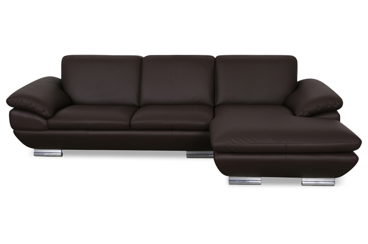 calia italia leder ecksofa est 269 braun sofas zum. Black Bedroom Furniture Sets. Home Design Ideas