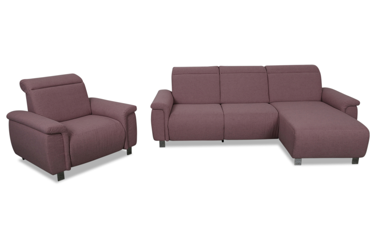 ecksofa mit sessel pink sofas zum halben preis. Black Bedroom Furniture Sets. Home Design Ideas