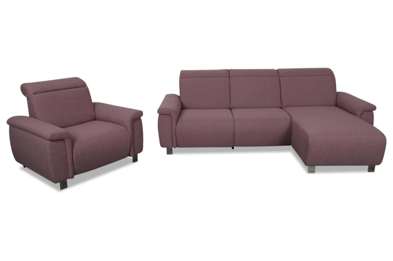ecksofa mit sessel pink sofas zum halben preis. Black Bedroom Furniture Sets. Home Design Ideas