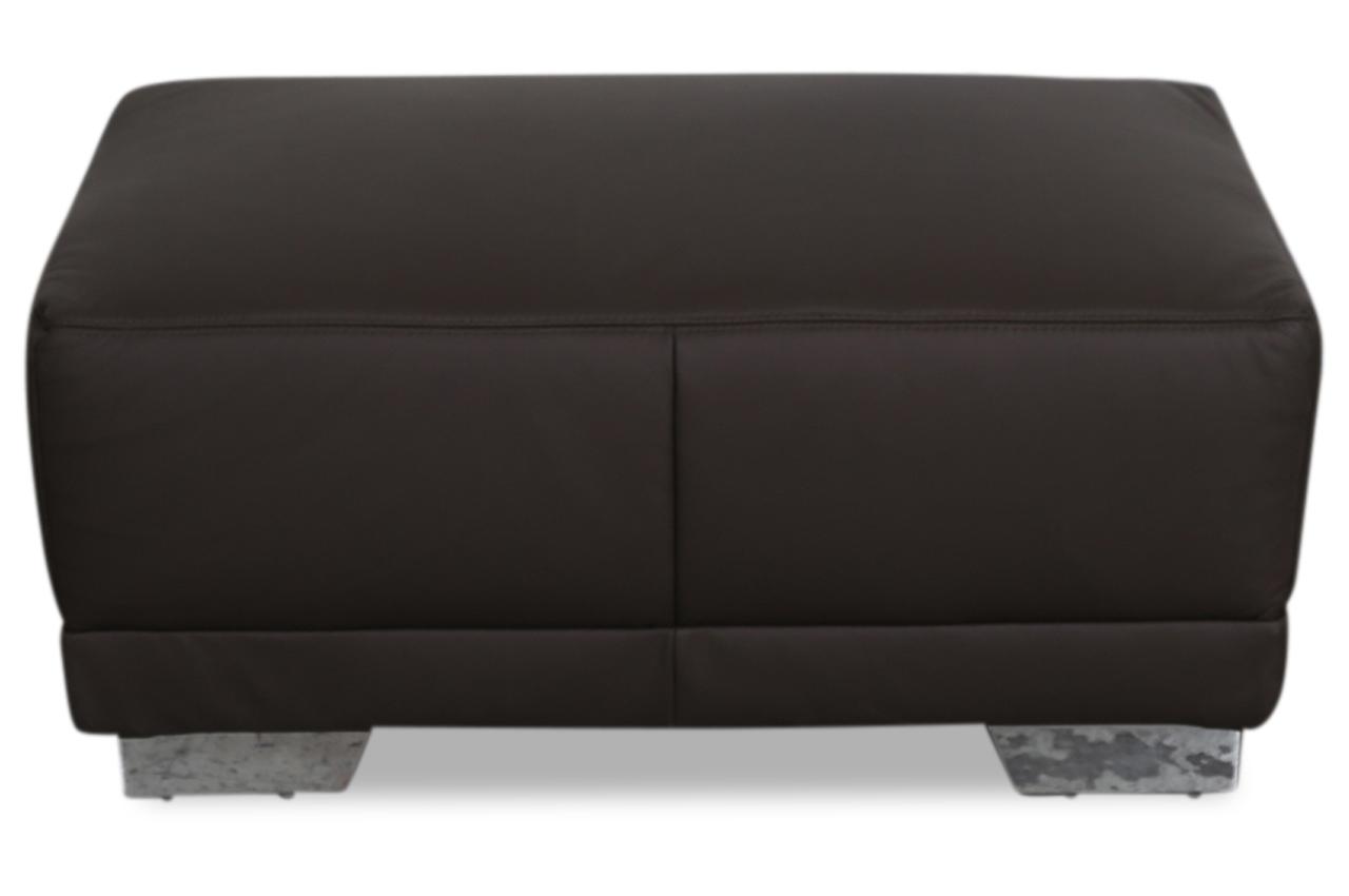 ada alina leder hocker 7627 braun sofas zum halben preis. Black Bedroom Furniture Sets. Home Design Ideas