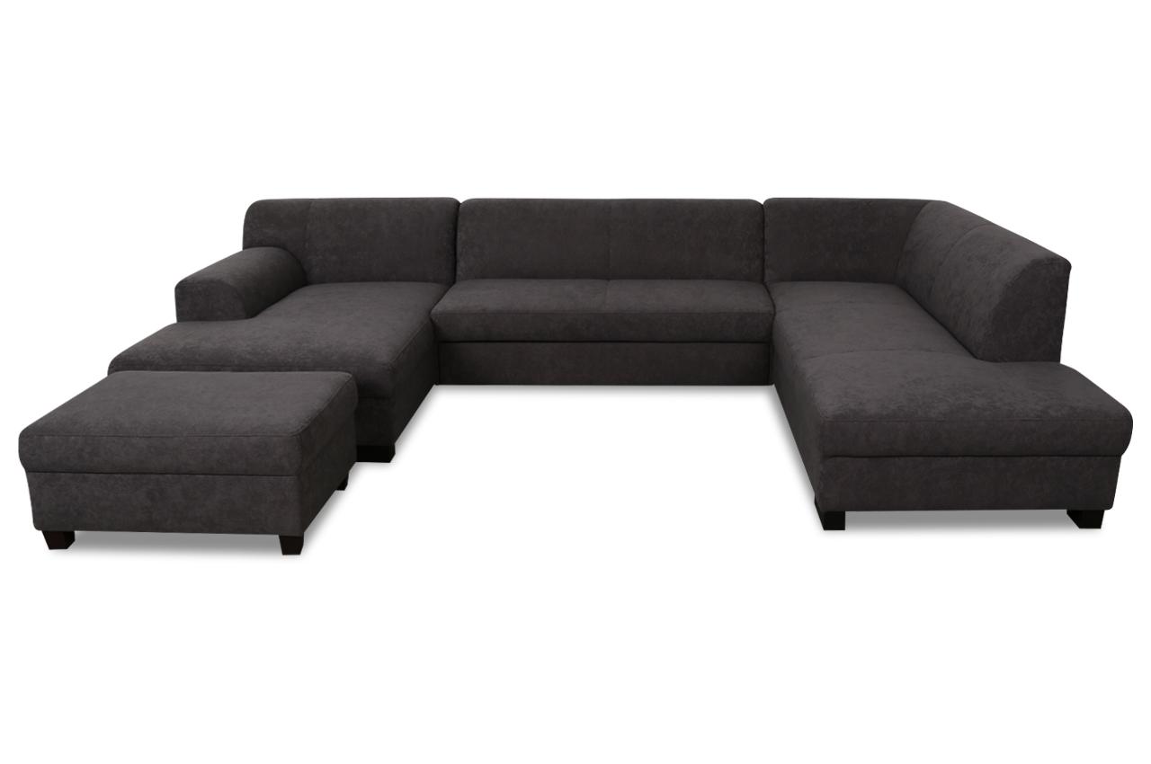 wohnlandschaft vanda mit hocker mit schlaffunktion braun sofas zum halben preis. Black Bedroom Furniture Sets. Home Design Ideas