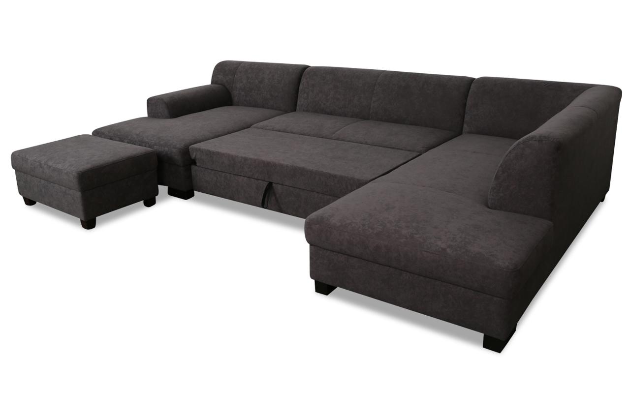 wohnlandschaft vanda mit hocker mit schlaffunktion. Black Bedroom Furniture Sets. Home Design Ideas