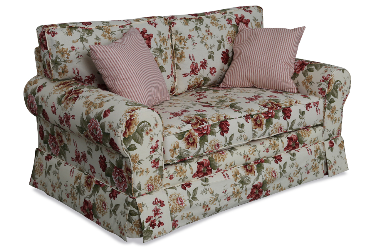 furntrade 2er sofa laura bunt sofas zum halben preis. Black Bedroom Furniture Sets. Home Design Ideas