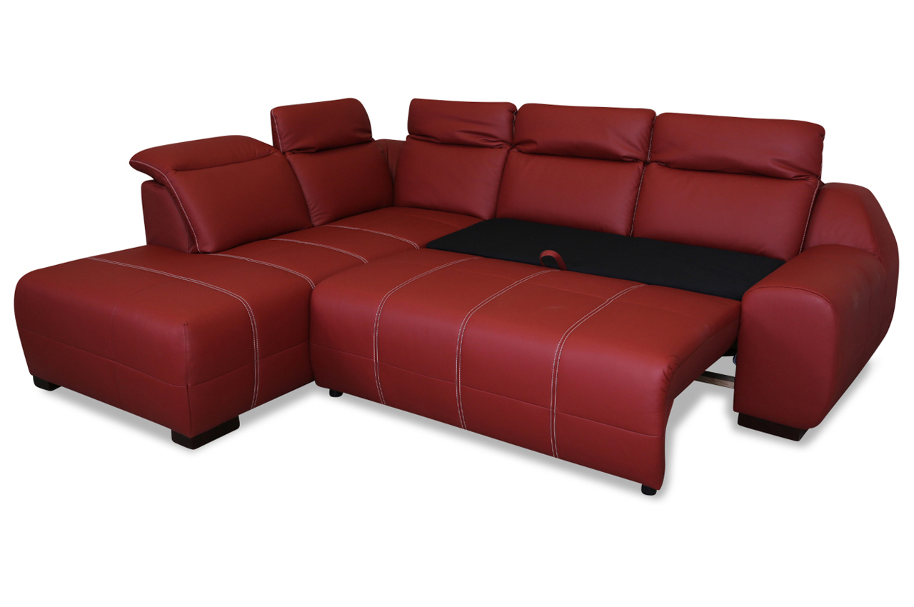 leder ecksofa xl mit schlaffunktion rot sofas zum halben preis. Black Bedroom Furniture Sets. Home Design Ideas