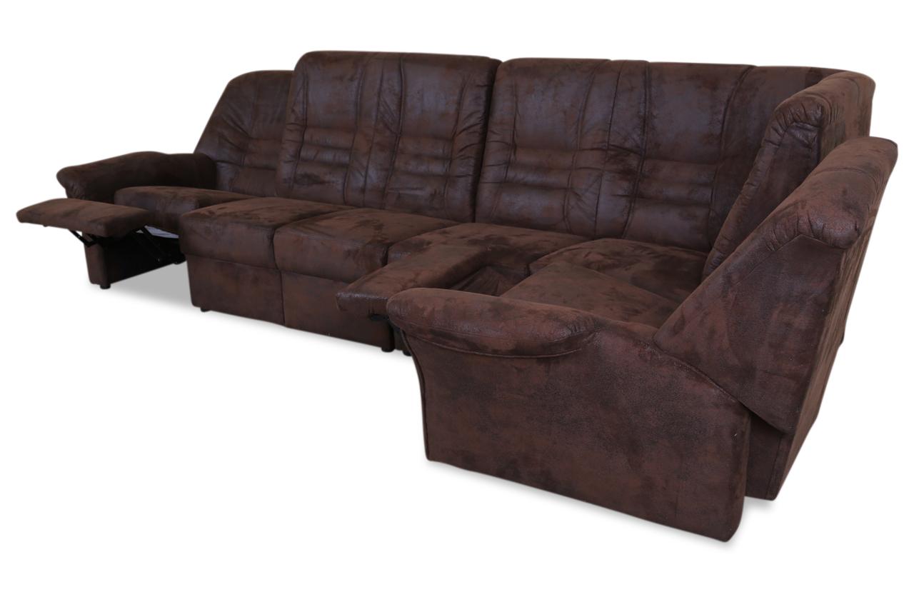 Ecksofa xl blitze mit relax braun sofas zum halben preis for Ecksofa 2 00