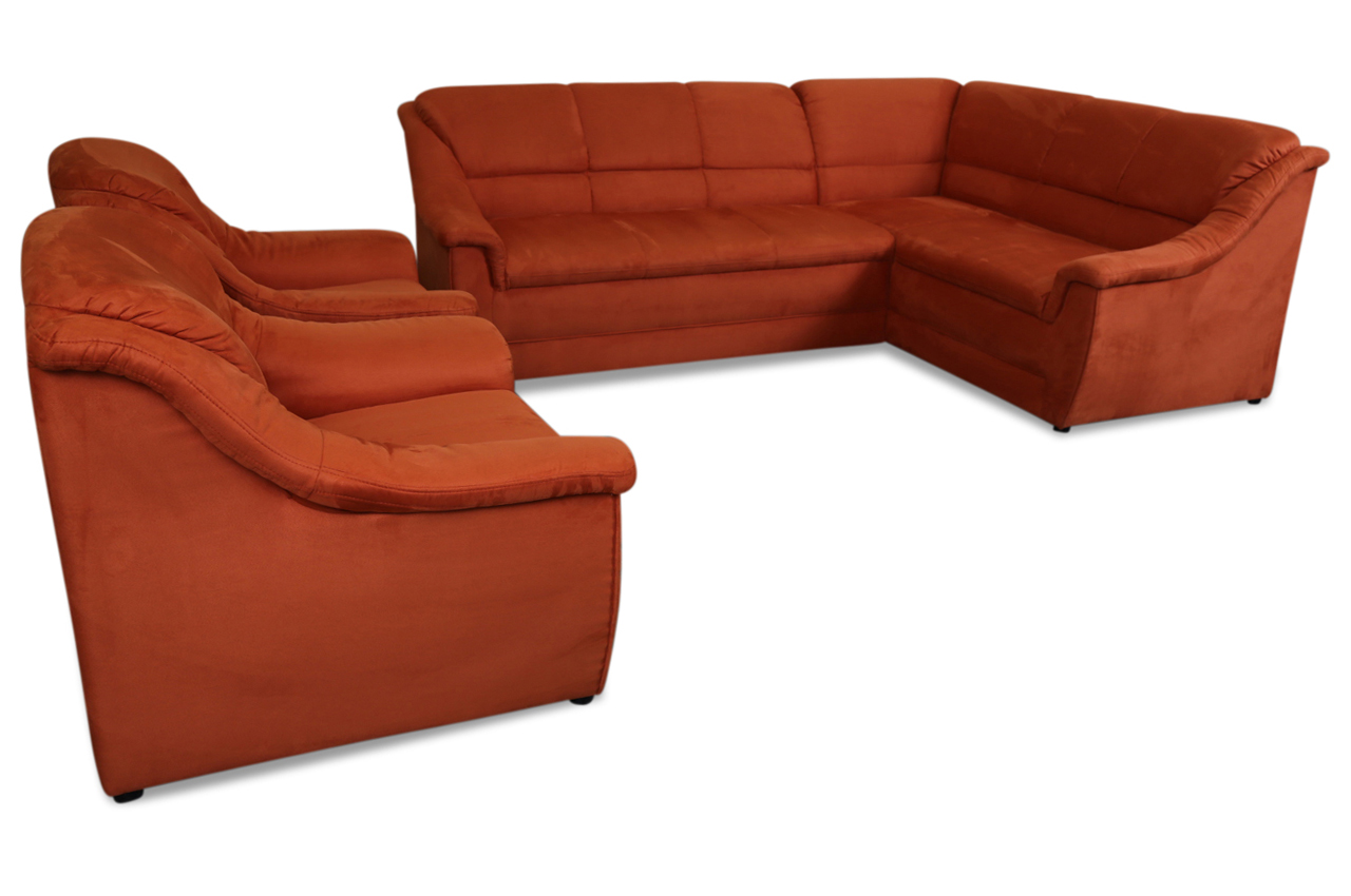 ecksofa xl lale mit sessel orange sofas zum halben preis. Black Bedroom Furniture Sets. Home Design Ideas