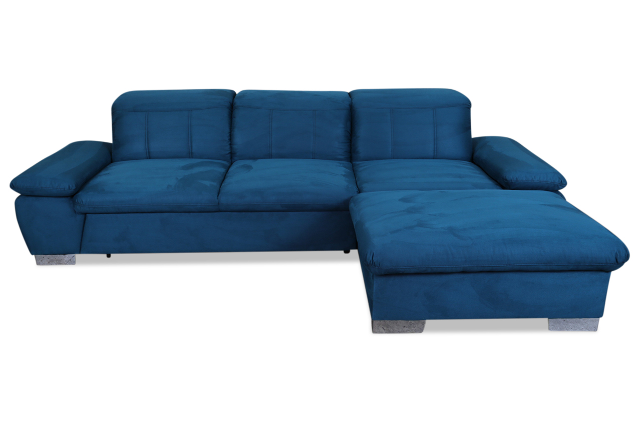 ecksofa milan mit schlaffunktion blau sofas zum halben preis. Black Bedroom Furniture Sets. Home Design Ideas