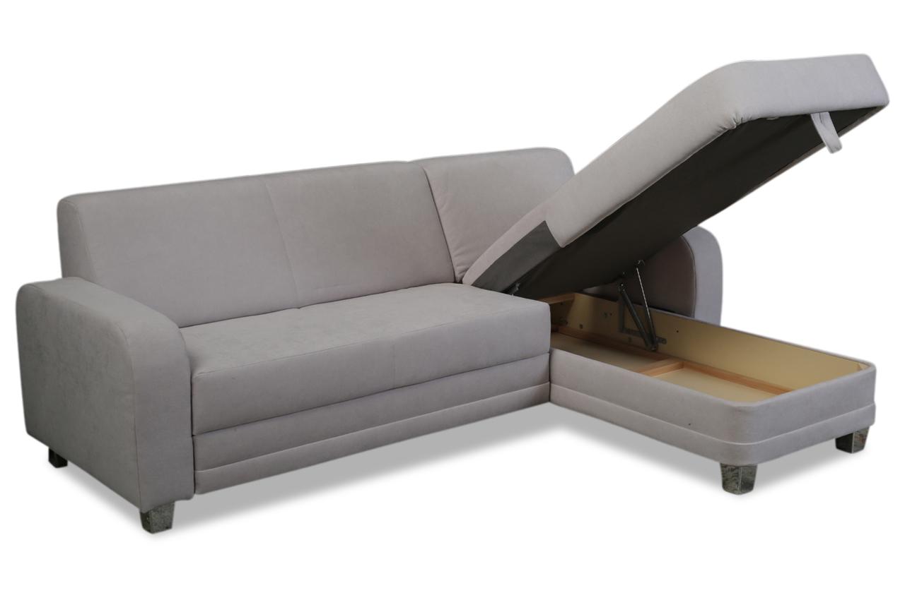 Ada alina ecksofa 7420 mit schlaffunktion grau sofas for Wohnlandschaft 7420
