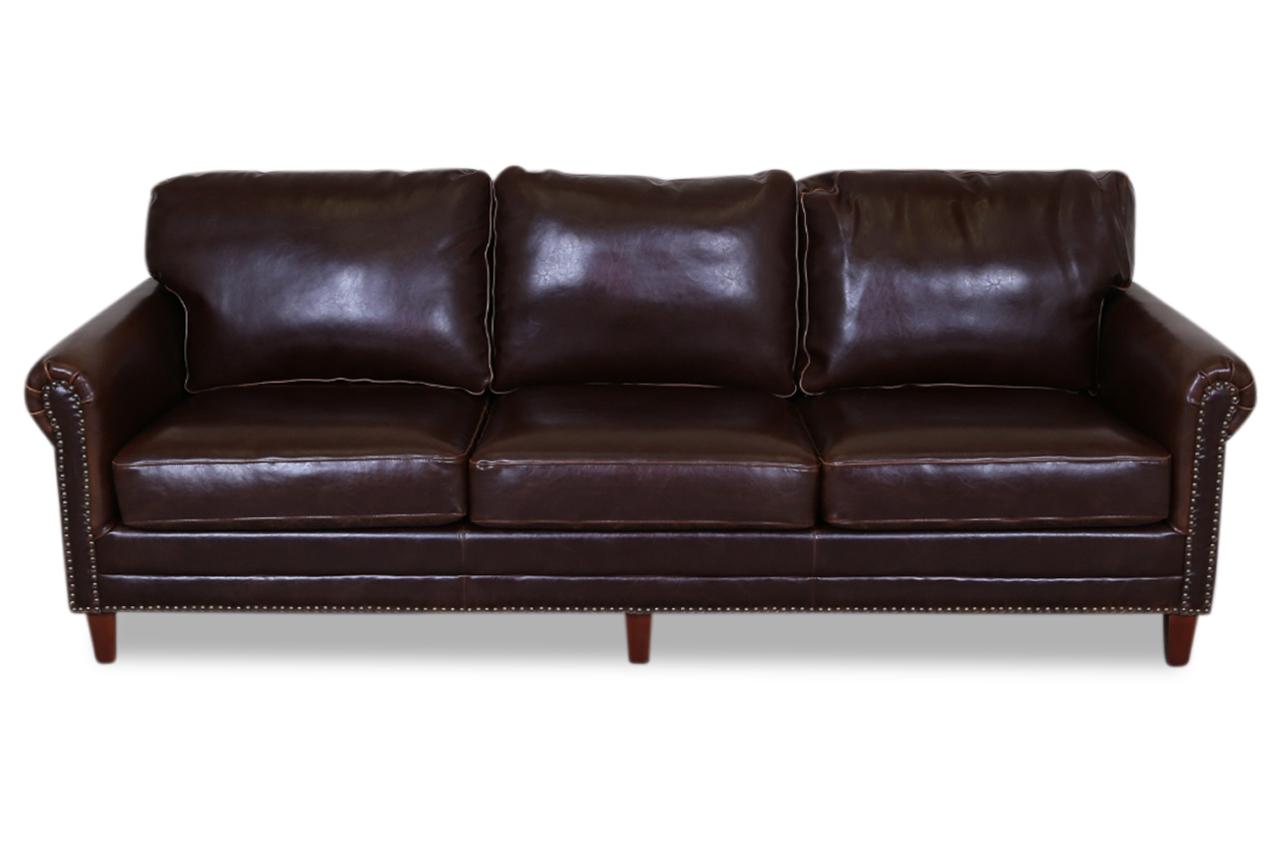 furntrade leder 3er sofa bibo braun sofas zum halben preis. Black Bedroom Furniture Sets. Home Design Ideas