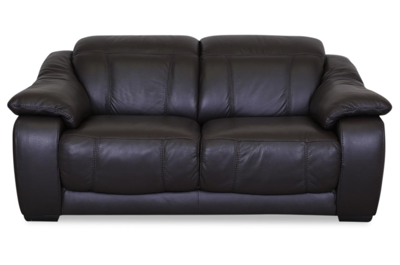 editions leder 2er sofa u076 braun mit federkern sofas. Black Bedroom Furniture Sets. Home Design Ideas