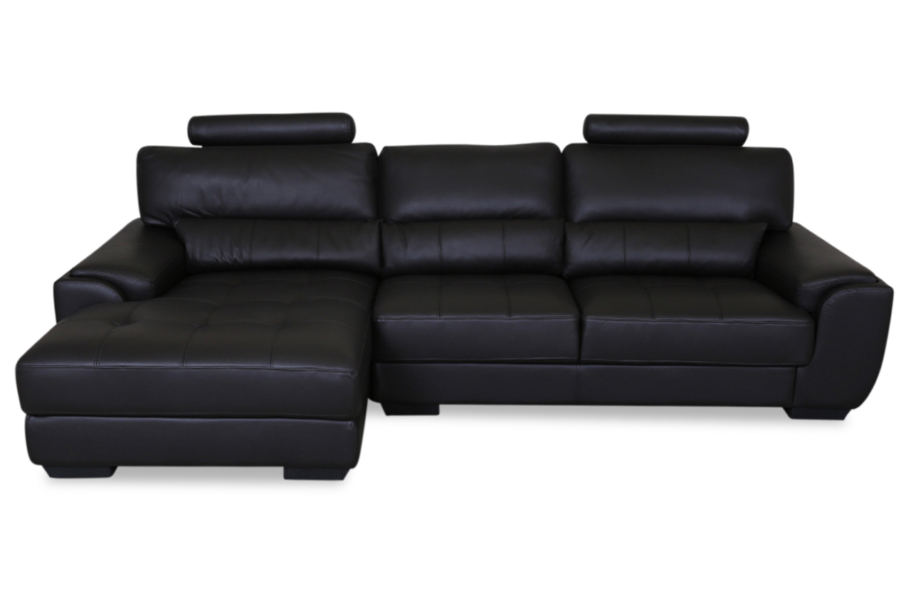 furntrade leder ecksofa 31380 schwarz sofas zum halben. Black Bedroom Furniture Sets. Home Design Ideas