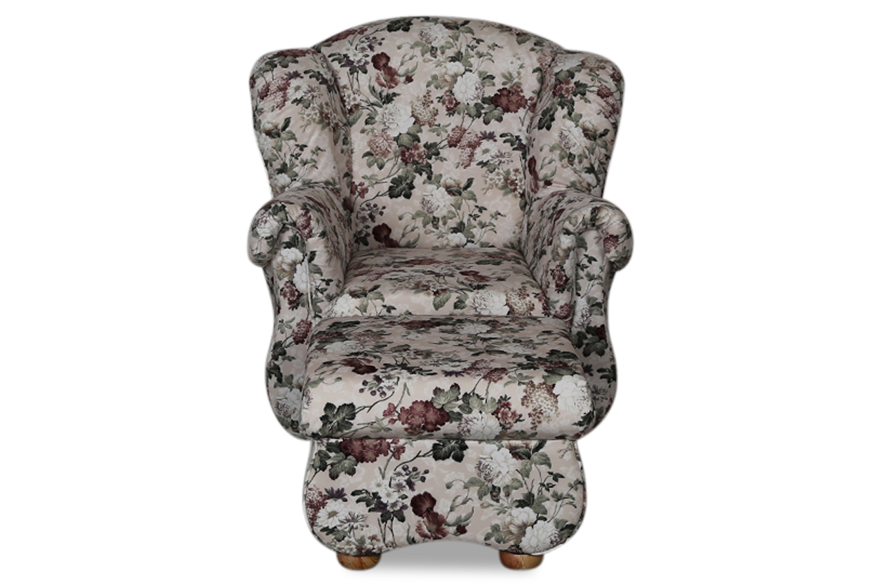 furntrade ohrenbackensessel toscana mit hocker bunt sofas zum halben preis. Black Bedroom Furniture Sets. Home Design Ideas