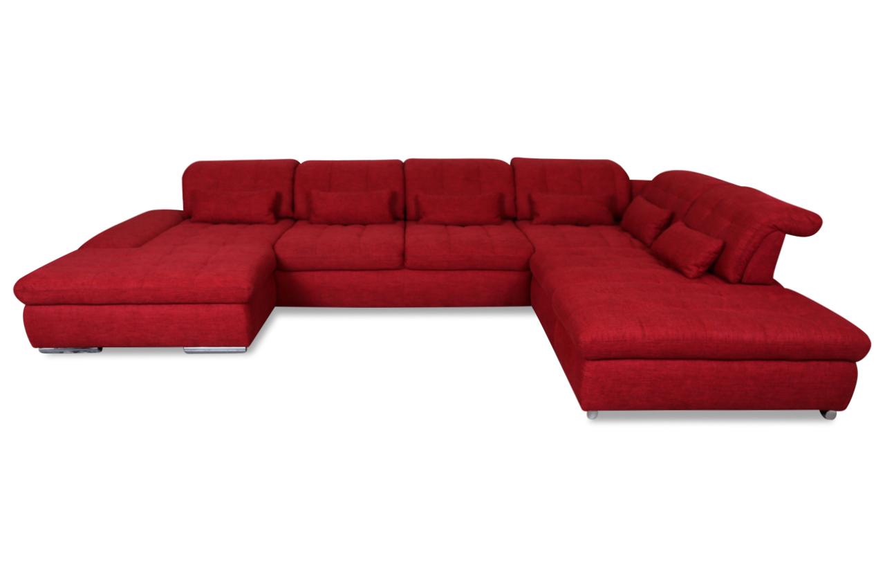 wohnlandschaft mit sitzverstellung rot sofas zum halben preis. Black Bedroom Furniture Sets. Home Design Ideas