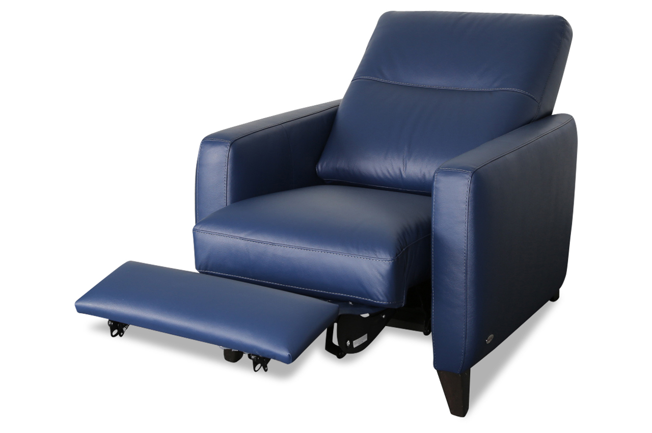 furntrade leder fernsehsessel z277 blau sofas zum halben preis. Black Bedroom Furniture Sets. Home Design Ideas