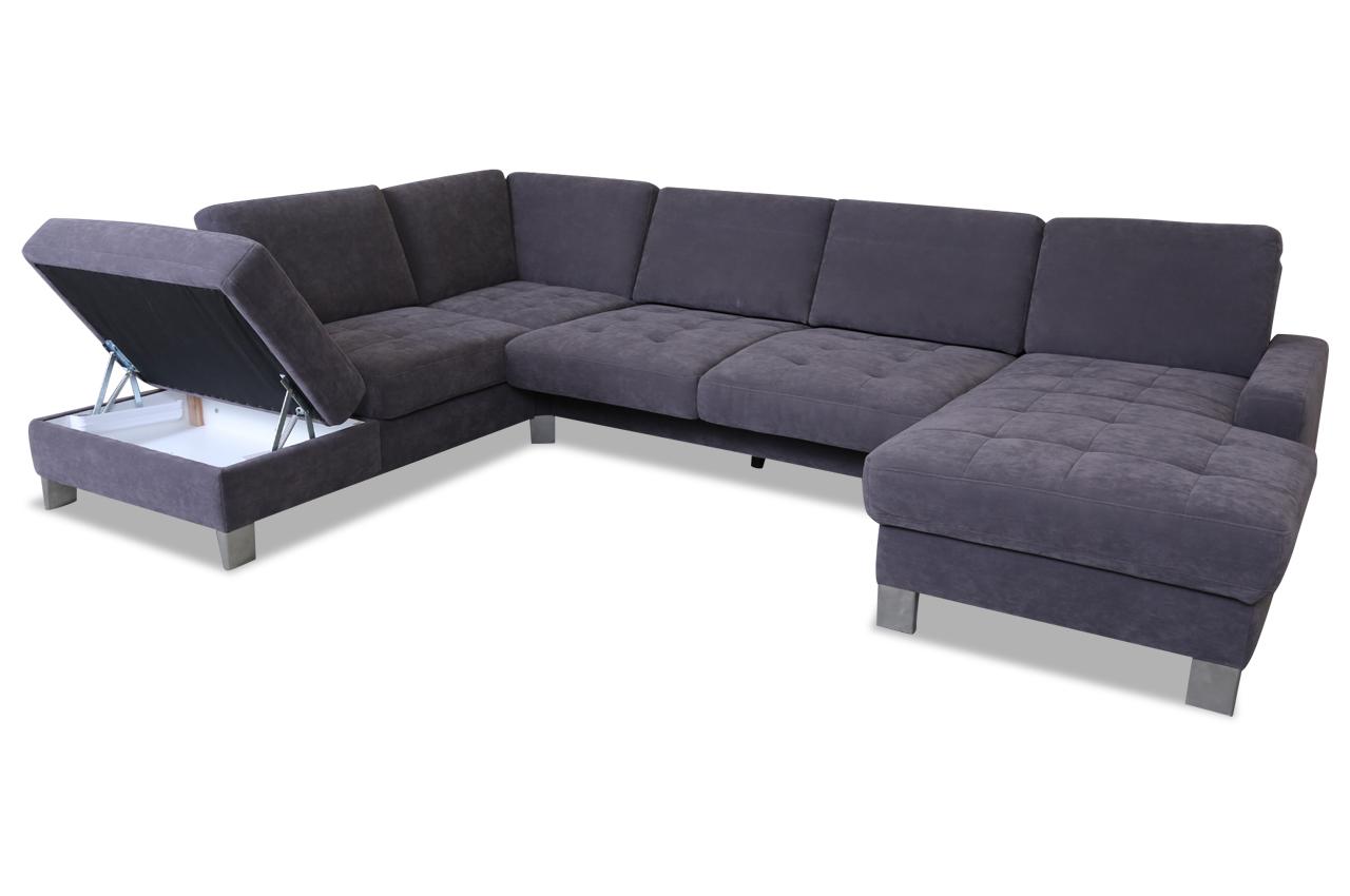 wohnlandschaft mit relax grau sofas zum halben preis. Black Bedroom Furniture Sets. Home Design Ideas