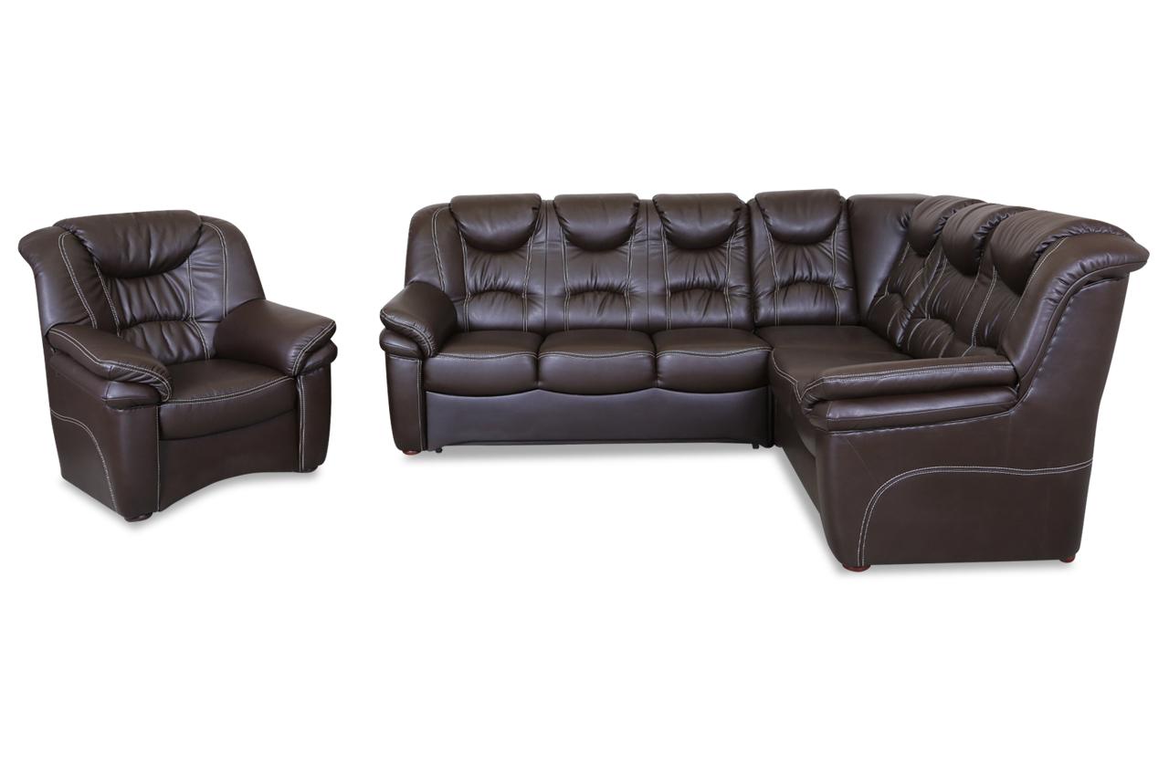 leder rundecke rom mit sessel mit relax und. Black Bedroom Furniture Sets. Home Design Ideas