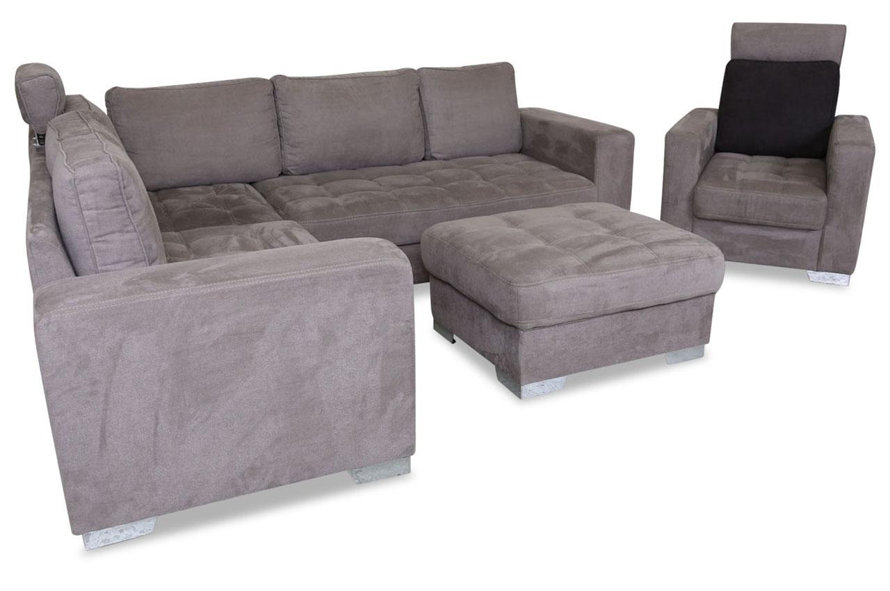 rundecke arles mit hocker und sessel braun sofas zum halben preis. Black Bedroom Furniture Sets. Home Design Ideas