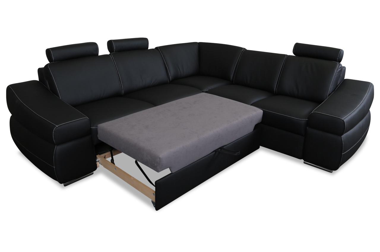exxpo by gala rundecke coco mit schlaffunktion schwarz mit federkern sofas zum halben preis. Black Bedroom Furniture Sets. Home Design Ideas