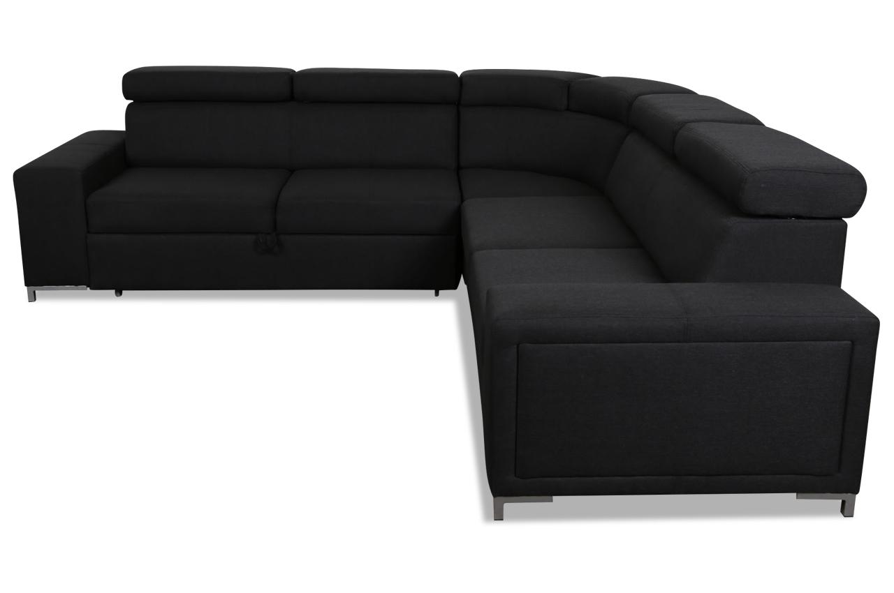 lubnice rundecke lizbona mit schlaffunktion schwarz sofas zum halben preis. Black Bedroom Furniture Sets. Home Design Ideas