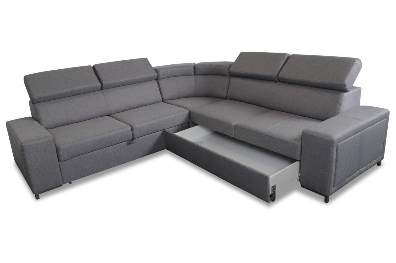 lubnice rundecke lizbona mit schlaffunktion grau sofas zum halben preis. Black Bedroom Furniture Sets. Home Design Ideas