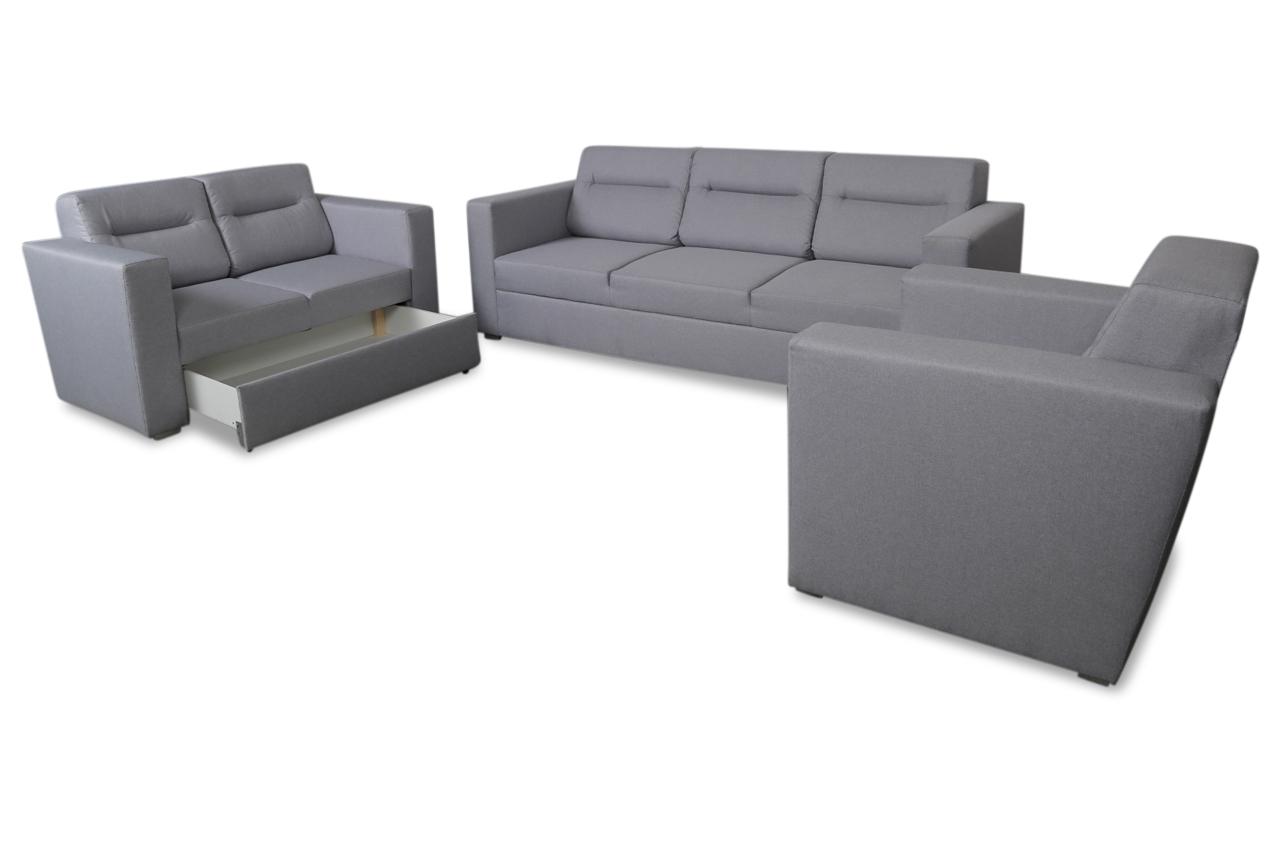 lubnice garnitur 3 2 1 bonita mit schlaffunktion grau sofas zum halben preis. Black Bedroom Furniture Sets. Home Design Ideas