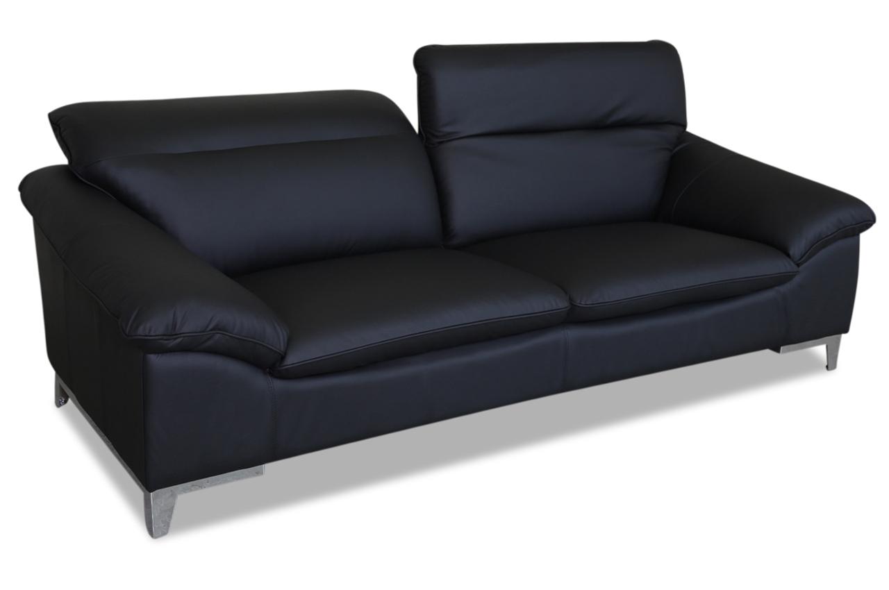cotta leder 3er sofa teresa schwarz sofas zum halben preis. Black Bedroom Furniture Sets. Home Design Ideas
