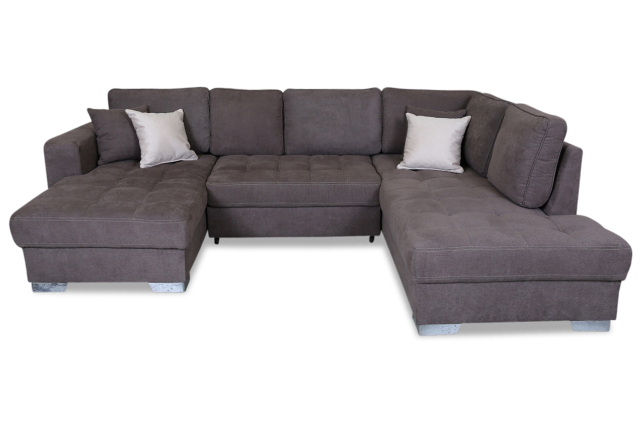wohnlandschaft arles mit schlaffunktion braun sofas. Black Bedroom Furniture Sets. Home Design Ideas